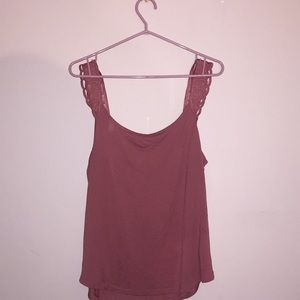 RW & CO Mauve Pink Tank Top New